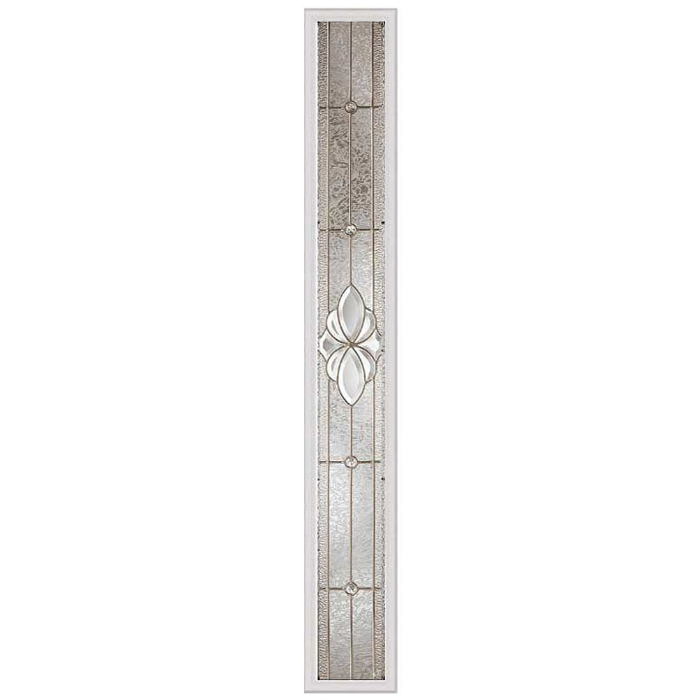 ODL Heirlooms 8-inch x 64-inch Sidelight Satin Nickel Caming with HP Frame