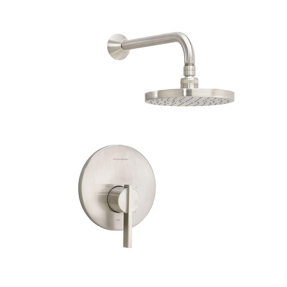 American Standard Berwick 1-Handle Shower-Only Faucet Trim Kit Rain Shower head in Brushed Nickel (Valve Sold Separately)