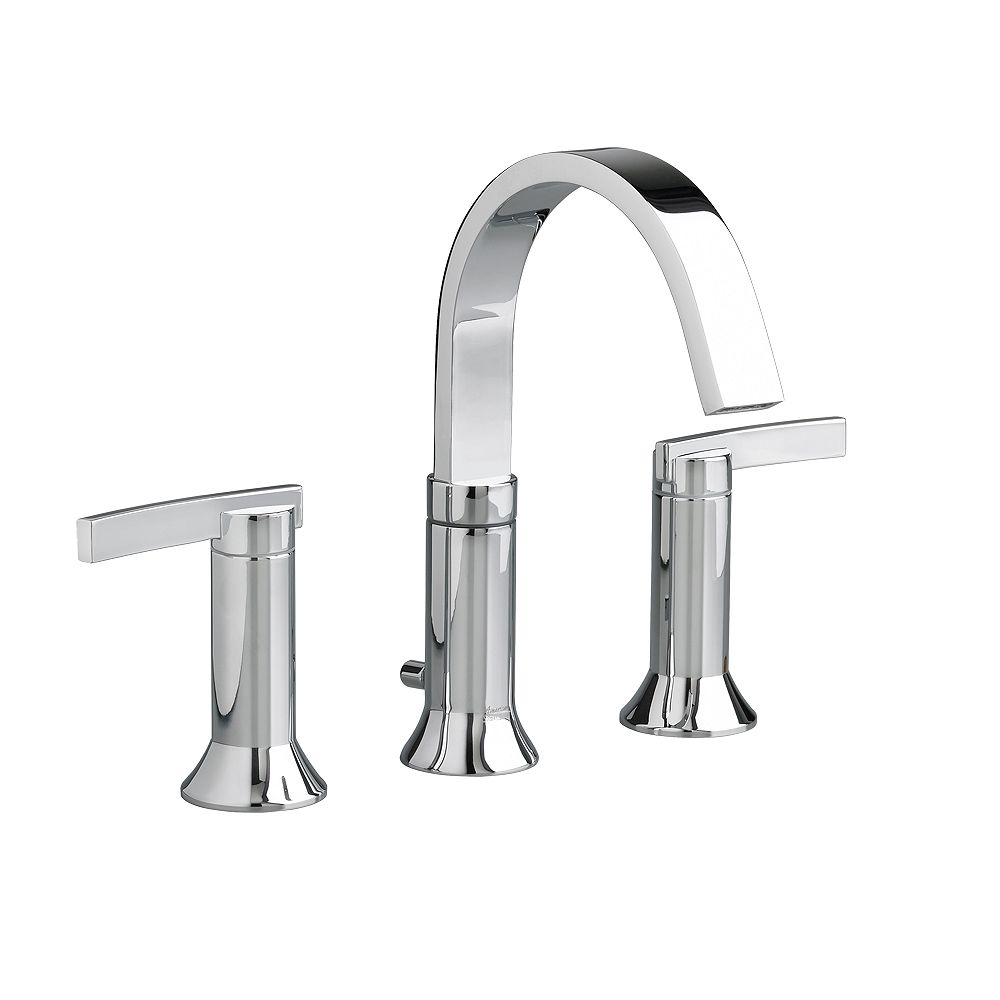 American Standard Berwick 8-inch Widespread 2-Handle High-Arc Bathroom Faucet with Drain in Polished Chrome
