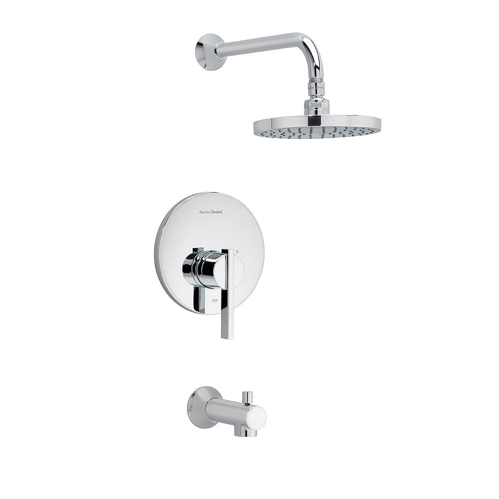 American Standard Berwick 1-Handle Tub and Shower Faucet Trim Kit with Rain Shower head in Polished Chrome (Valve Sold Separately)