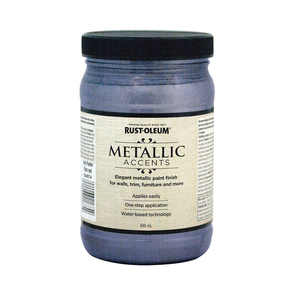 Rust-Oleum Metallic Accents Water Based Metallic Finish in Real Pewter, 946 mL