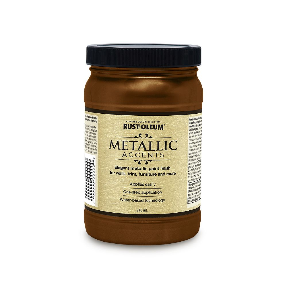 Rust-Oleum Metallic Accents Water Based Metallic Finish in Classic Bronze, 946 mL