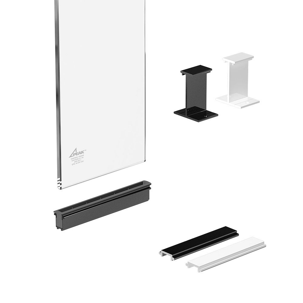 RailBlazers 6-inch Clear Glass Panel Kit