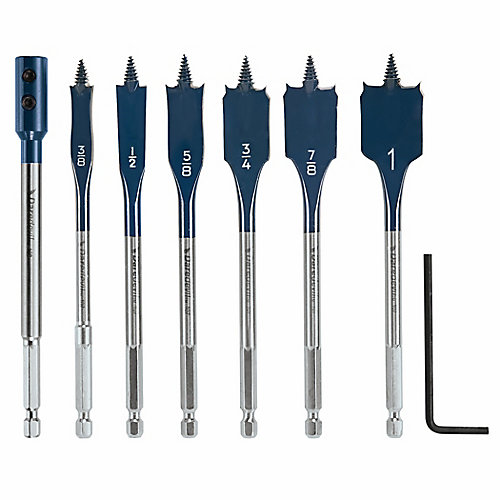 6 pc. Daredevil Standard Spade Bit Set Includes Extension