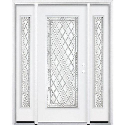 69-inch x 80-inch x 6 9/16-inch Nickel Full Lite Left Hand Entry Door with Brickmould - ENERGY STAR®