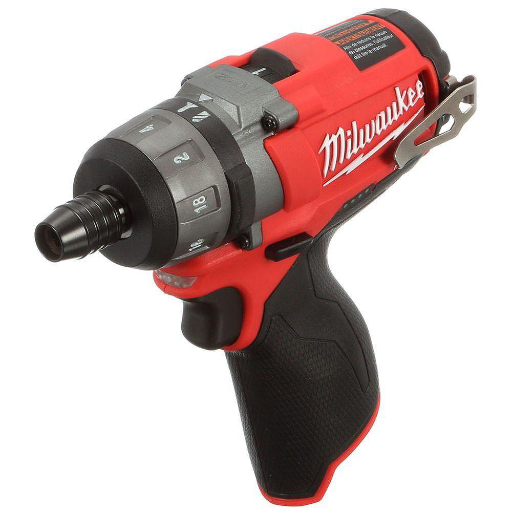 Milwaukee Tool M12 FUEL 12V Lithium-Ion sans brosse sans fil 1/4 de pouce Tournevis hexagonal à 2 vitesses (outil uniquement)