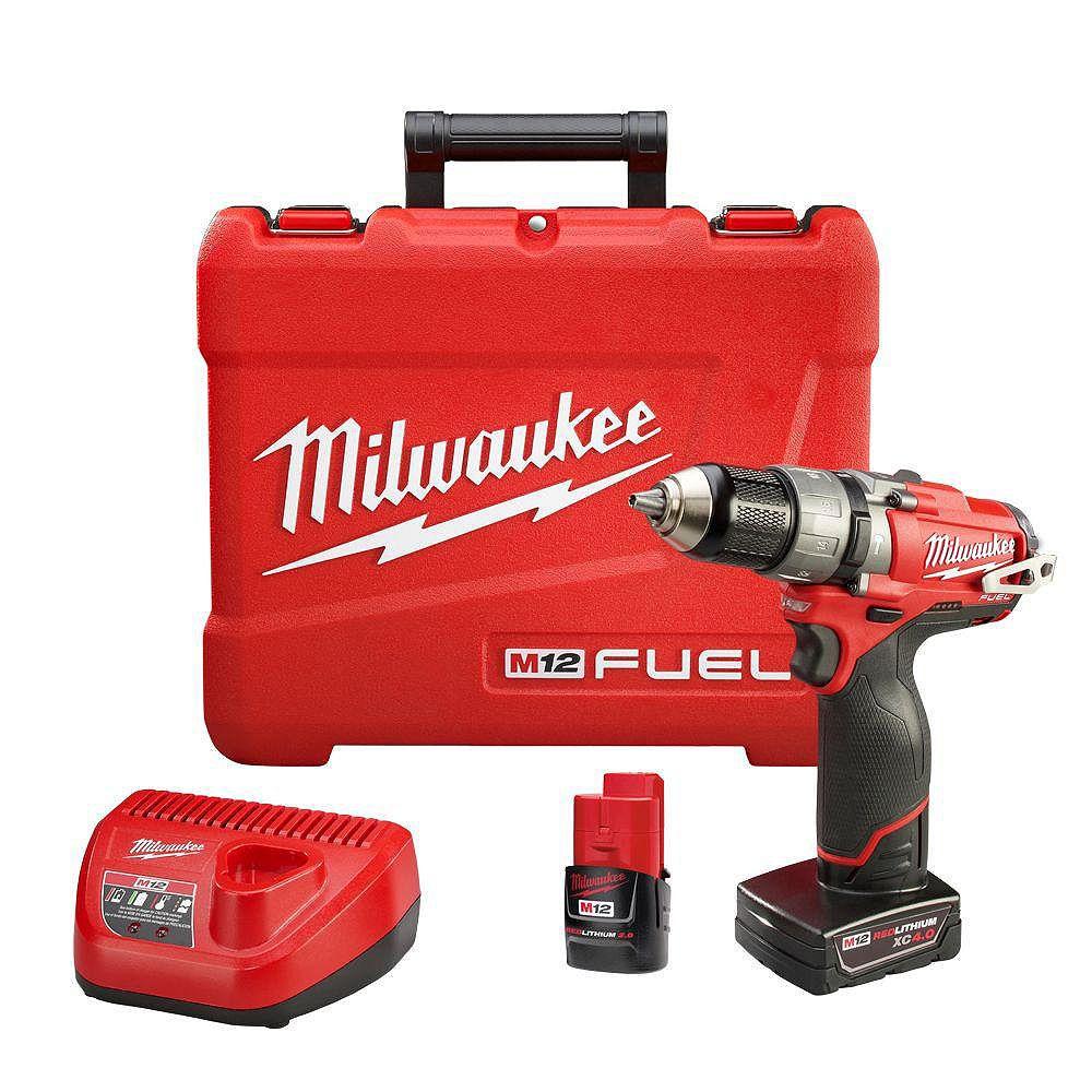 Milwaukee Tool M12 FUEL 1/2-inch Hammer Drill/Driver Kit