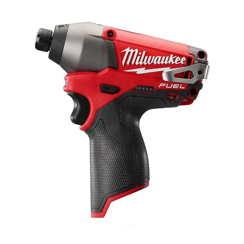 Milwaukee Tool M12 FUEL 12V Lithium-Ion Brushless Cordless 1/4-inch Hex Impact Driver (Tool Only)