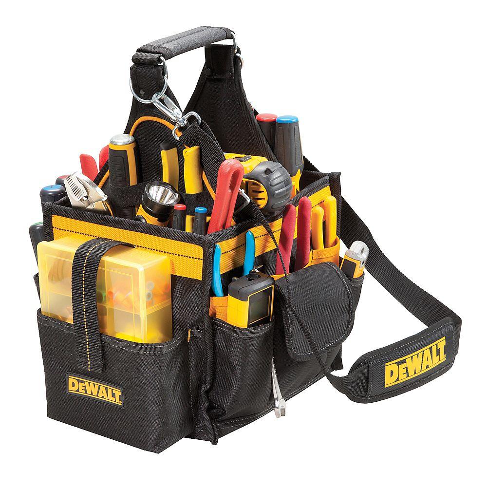 DEWALT Boîte à outils 11 po pour lélectricien et le technicien en maintenance avec plateau à pièces