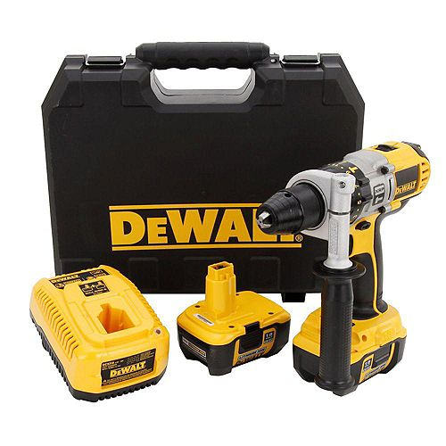 18V XRP Lithium-Ion Cordless 1/2-inch Hammer Drill/Drill/Driver Kit with (2) Batteries 2Ah, 1-Hour Charger and Case