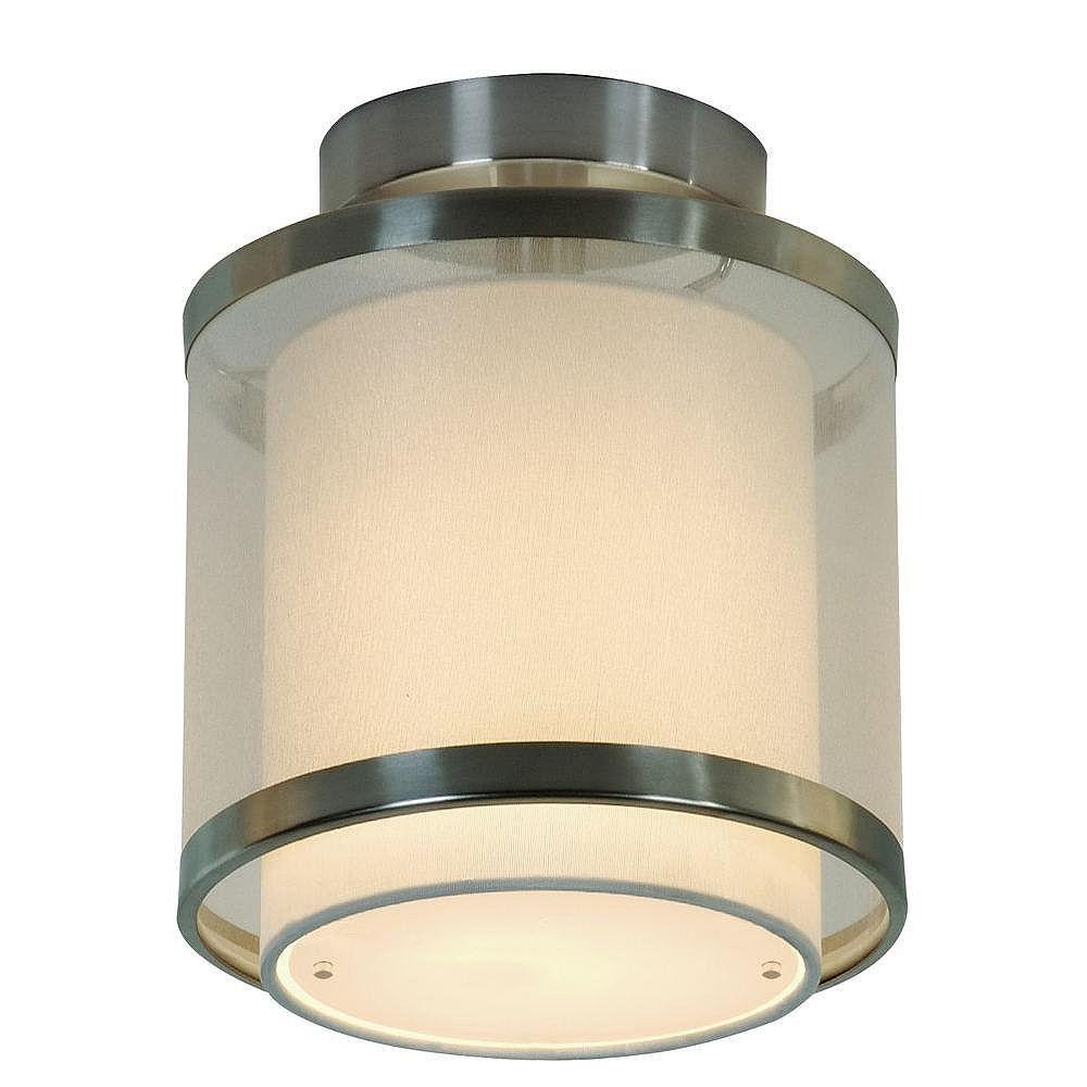 Trend Lighting 1 Light Ceiling Brushed Nickel Incandescent Flush Mount