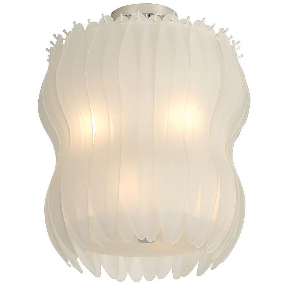 Trend Lighting 8 Light Ceiling White Incandescent Flush Mount