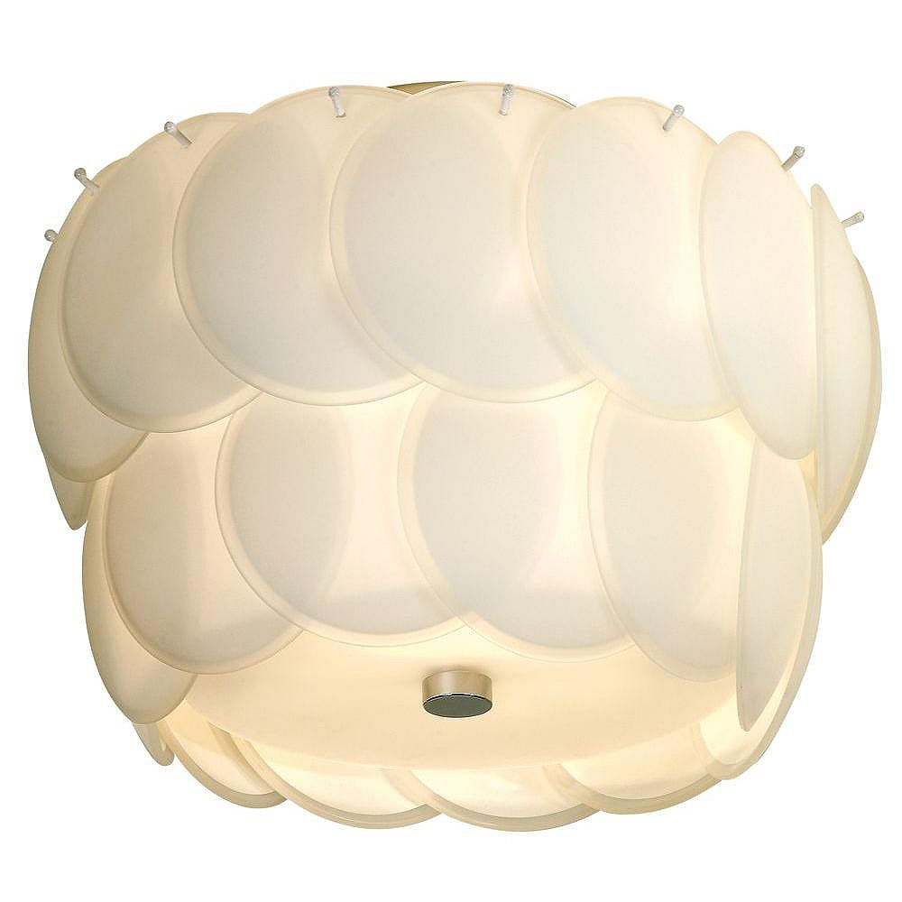 Trend Lighting 1 Light Ceiling White Incandescent Flush Mount