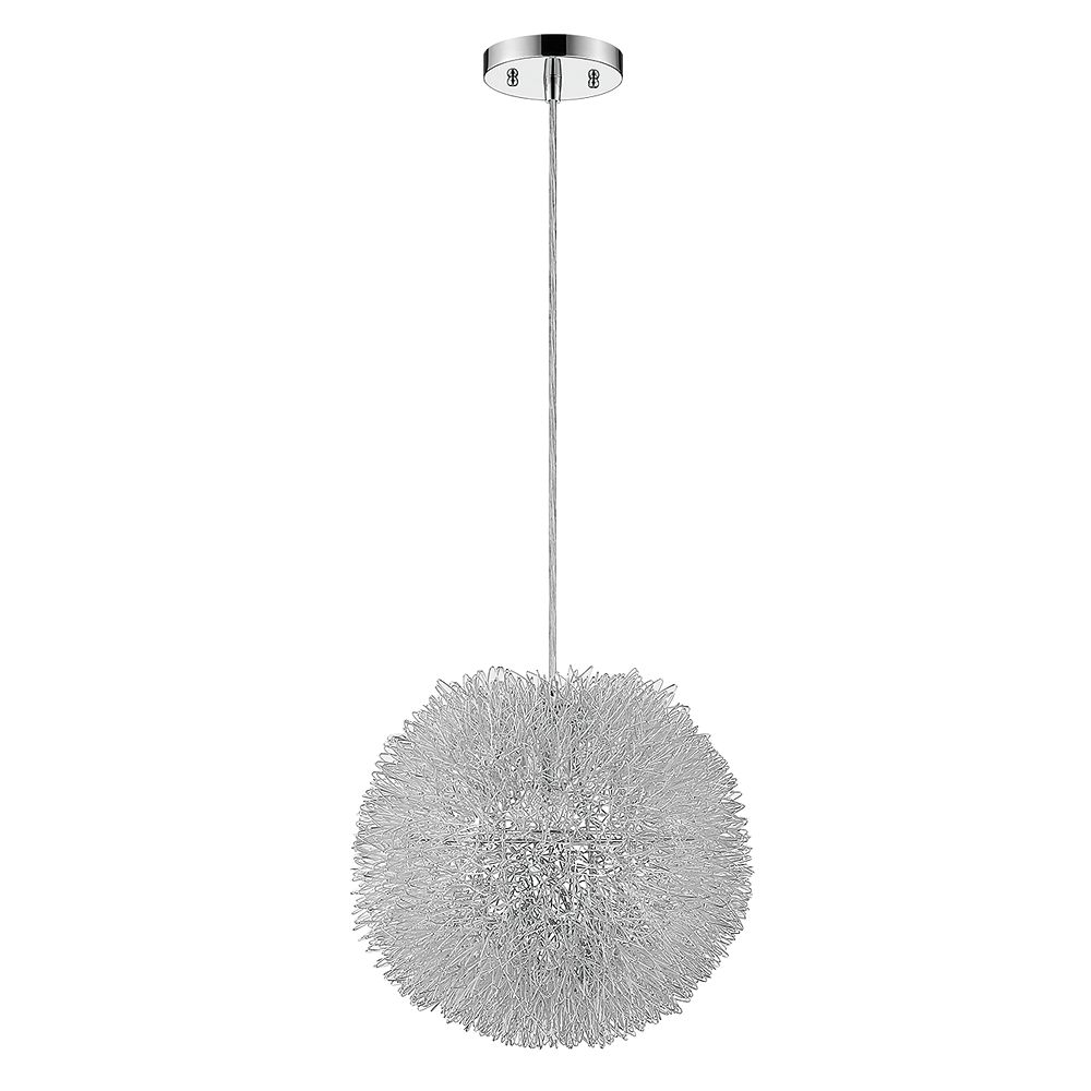 Trend Lighting 1 Light Ceiling Metallic Silver Incandescent Pendant