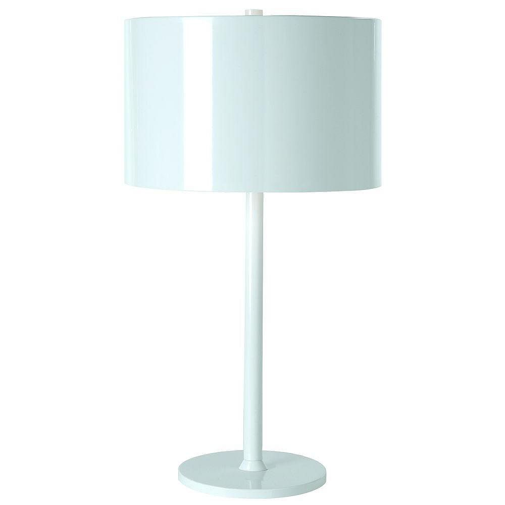 Trend Lighting 1 Light Table Pure White Incandescent Table Lamp
