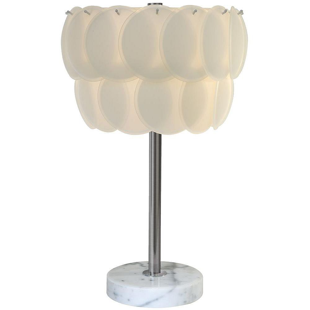 Trend Lighting 1 Light Table Sateen White Incandescent Table Lamp