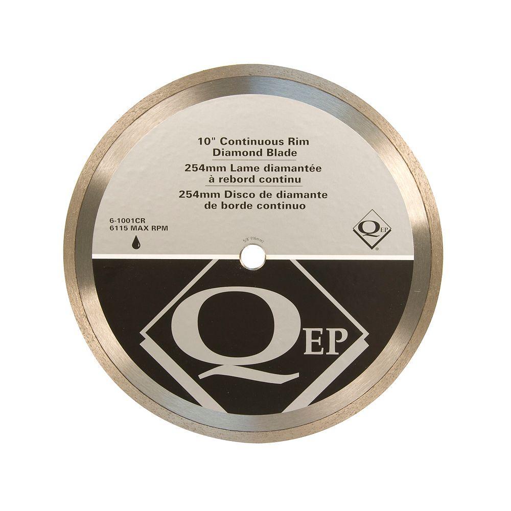 QEP 10 Inches Diameter Continuous Rim Diamond Tile Saw Blade 7/8-5/8 Inches Arbor For Wet Cutting