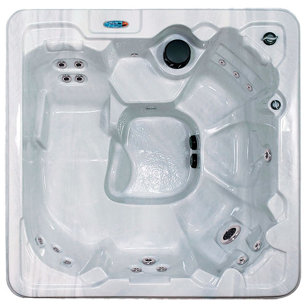 Qca Spas Captiva 7-Person 30-Jet Spa with Polar Insulation in Silver Marble