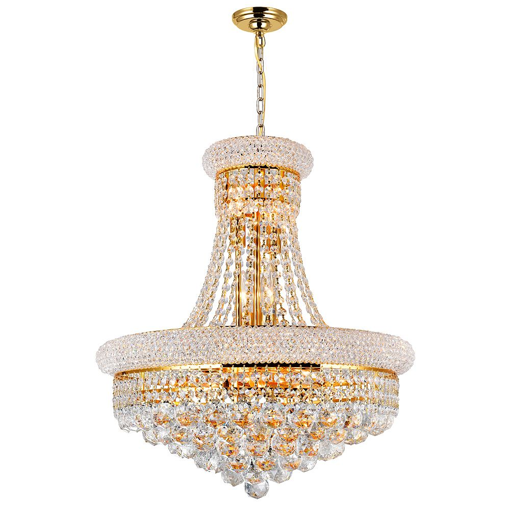 CWI Lighting 20 Inches Gold Beaded Pendent