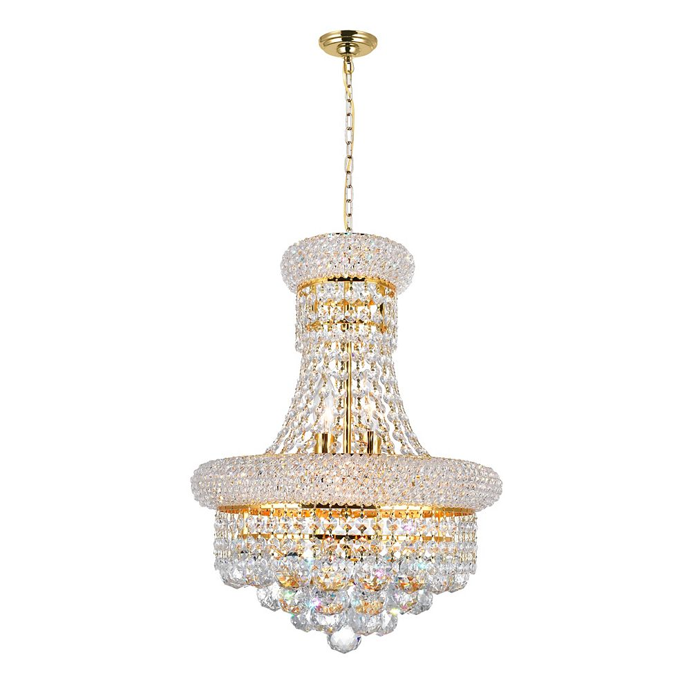 CWI Lighting 14 Inches  Gold Beaded Pendent