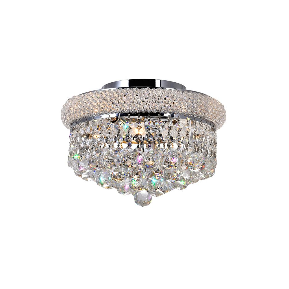 CWI Lighting 12-inch Round Crystal Beaded Flush Mount Light Fixture