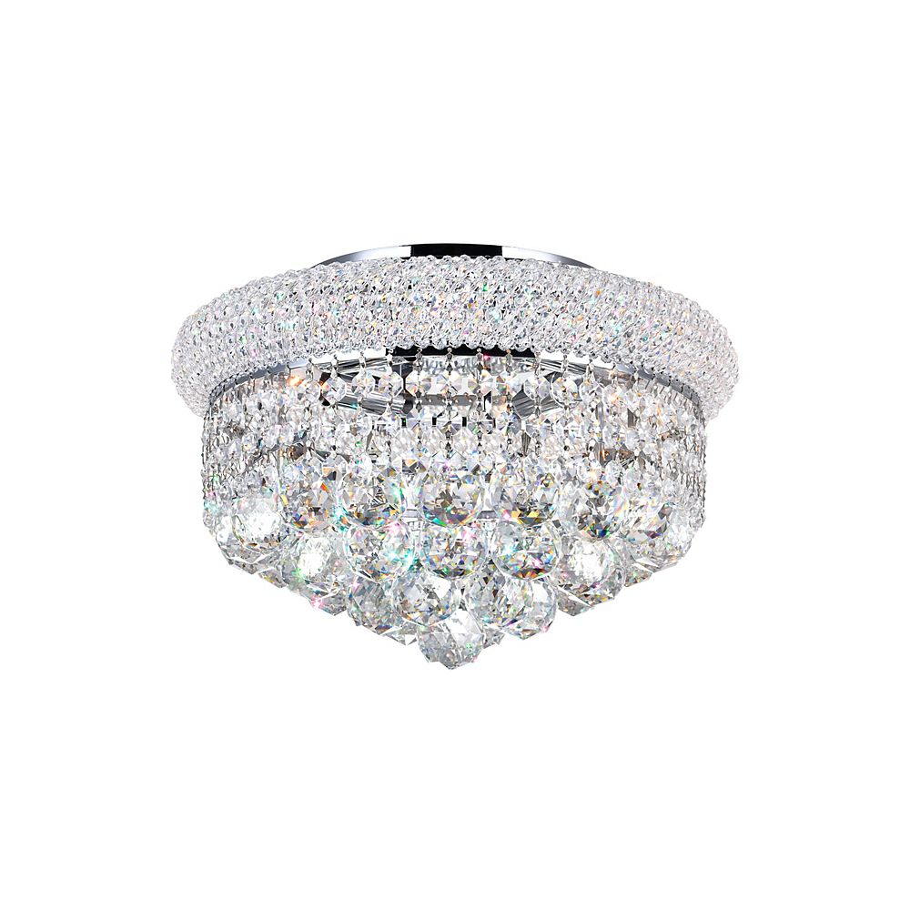 CWI Lighting 14 Inches Beaded Flush Mount