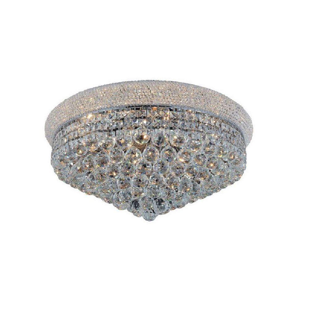 CWI Lighting 28 Inches Beaded Flush Mount