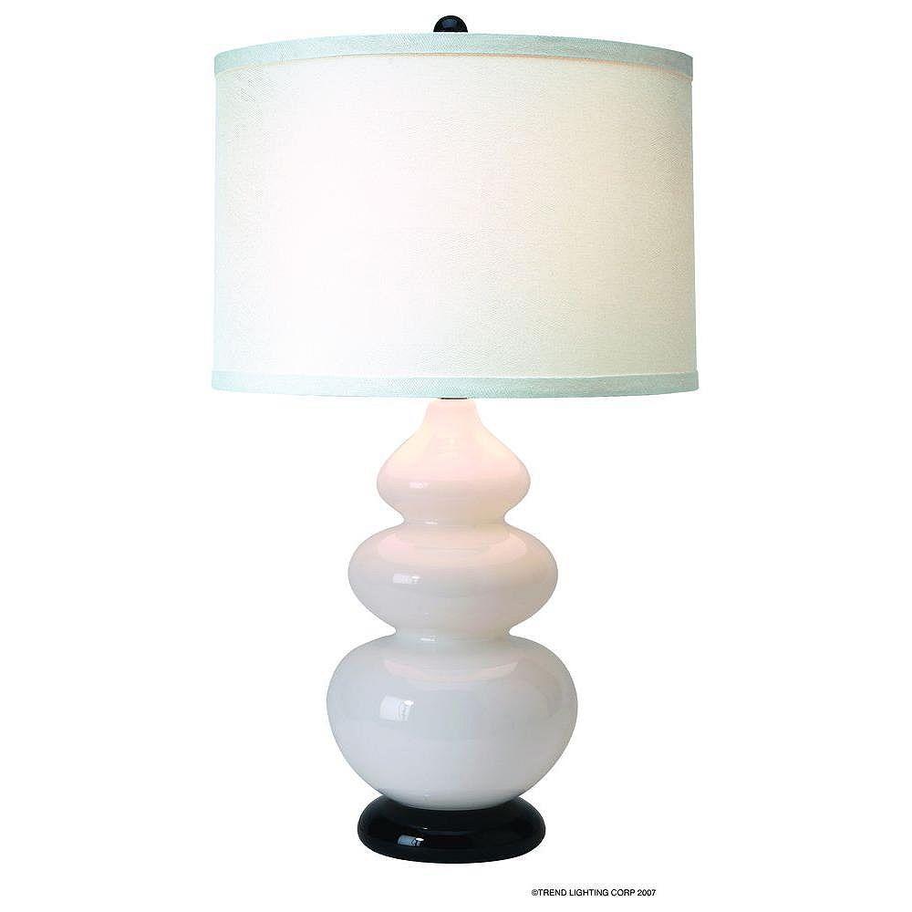 Trend Lighting 1 Light Table Glacier White Incandescent Table Lamp