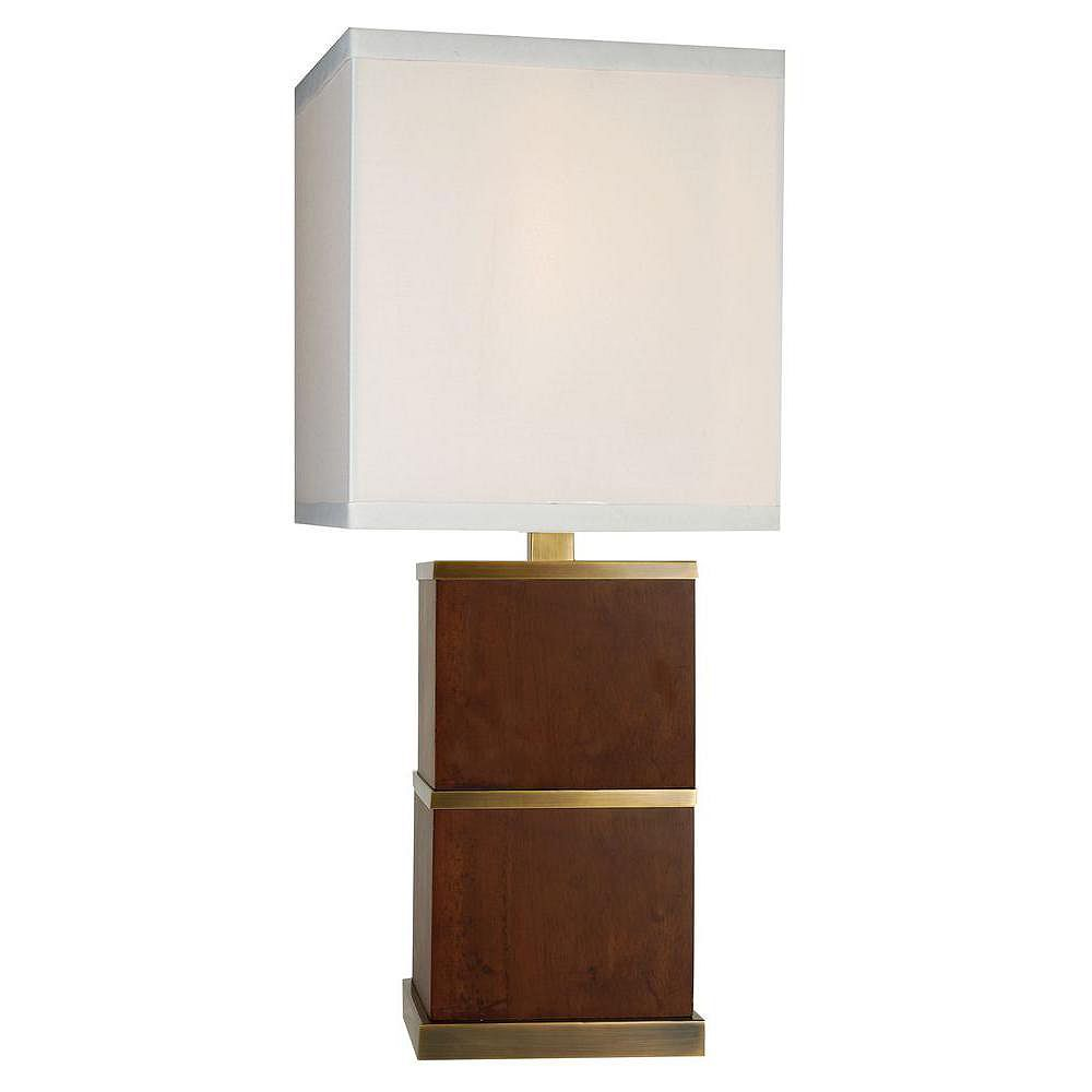 Trend Lighting 1 Light Table Dark Walnut Incandescent Table Lamp