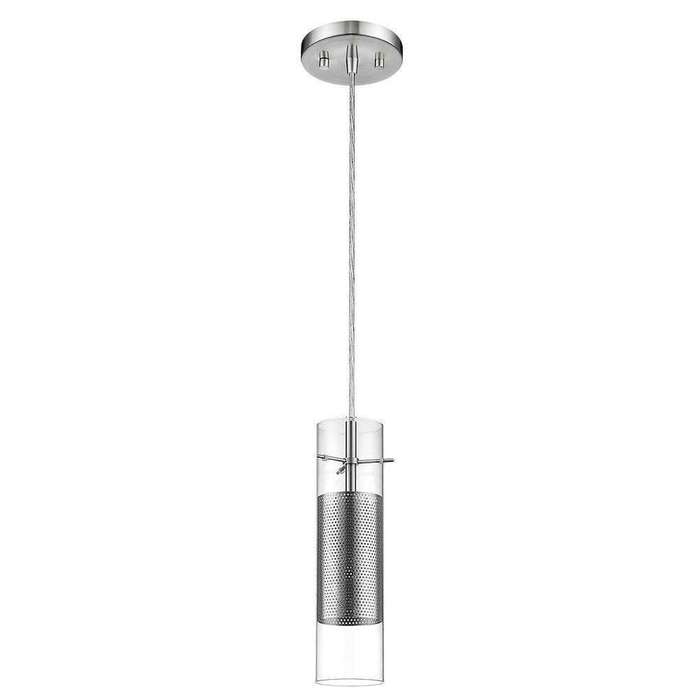 Trend Lighting 1 Light Ceiling Brushed Nickel Incandescent Pendant