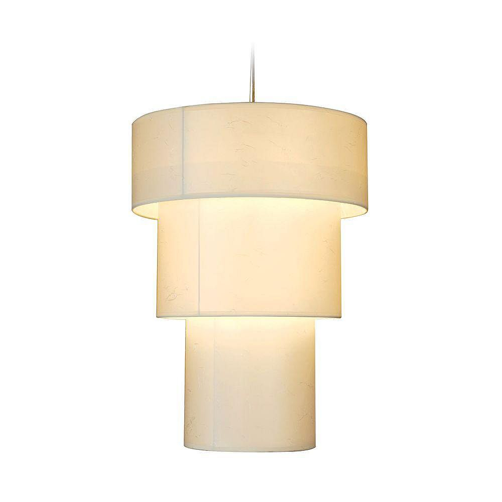 Trend Lighting 3 Light Ceiling Brushed Nickel Incandescent Pendant