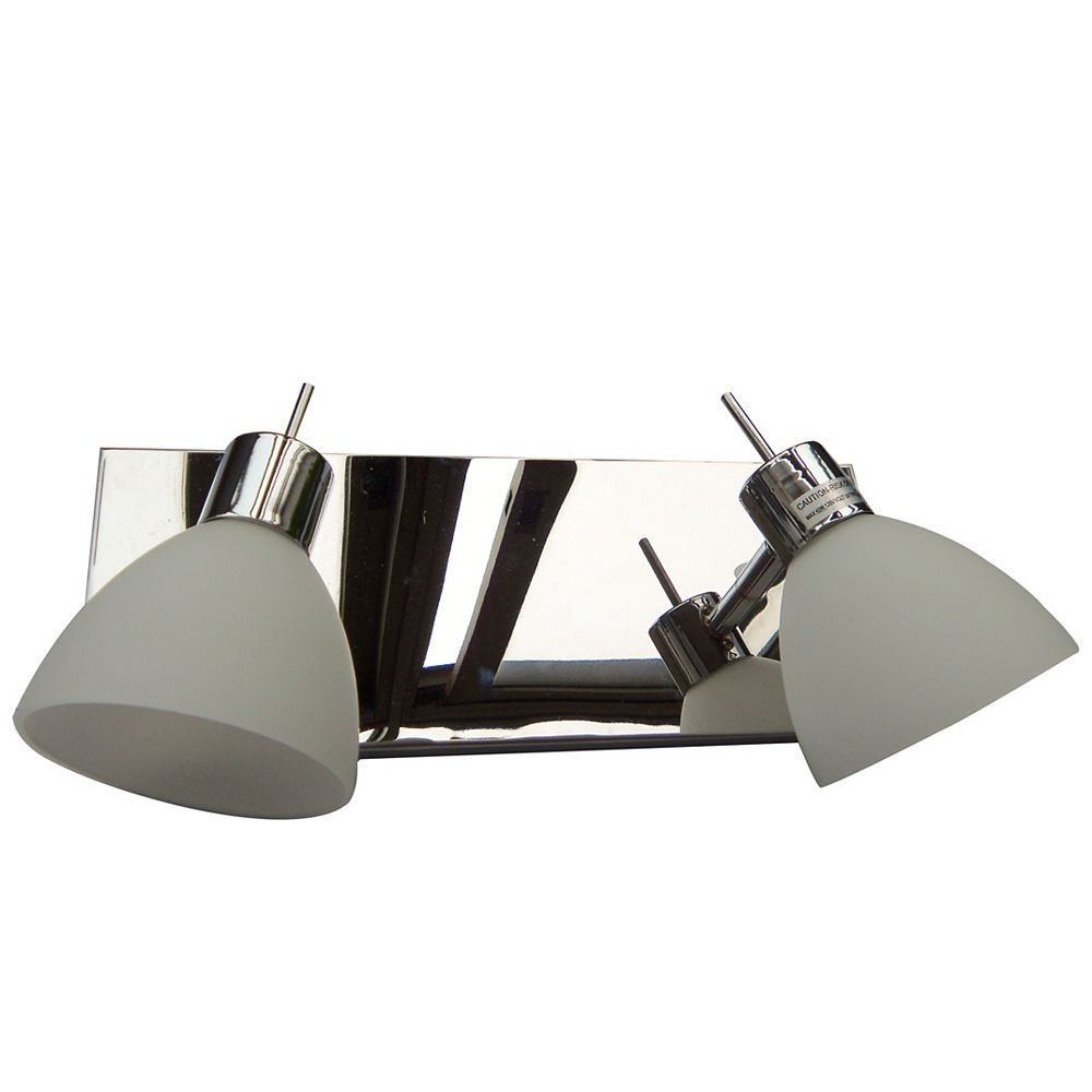 Lumirama Double Wall Or Ceiling Mount Mono Point with Frosted Glass Shade