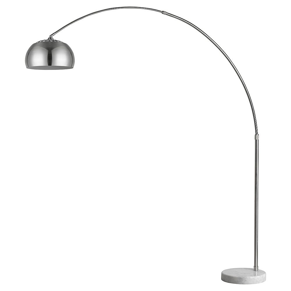 Trend Lighting 1 Light Floor Brushed Nickel Incandescent Floor Lamp