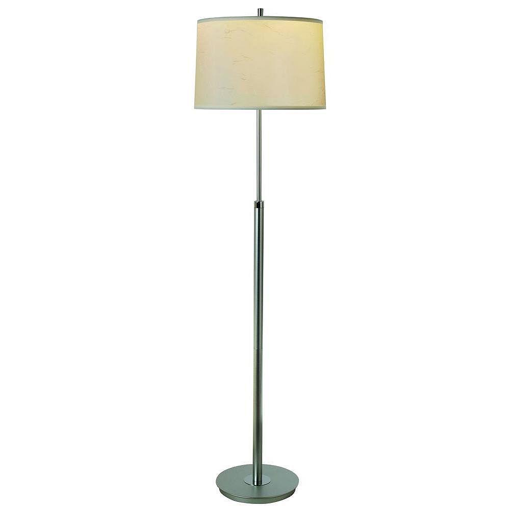 Trend Lighting 1 Light Floor Metallic Silver Incandescent Floor Lamp
