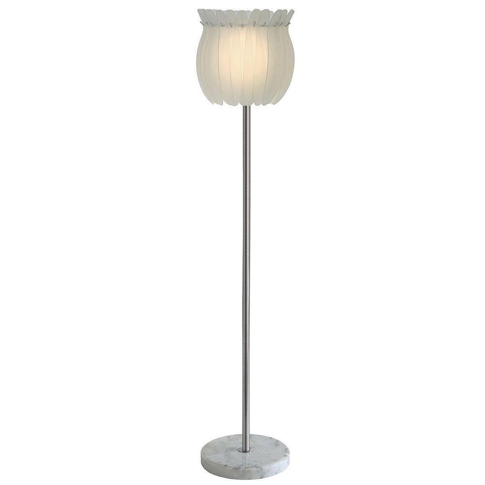 Trend Lighting 1 Light Floor Sateen White Incandescent Floor Lamp