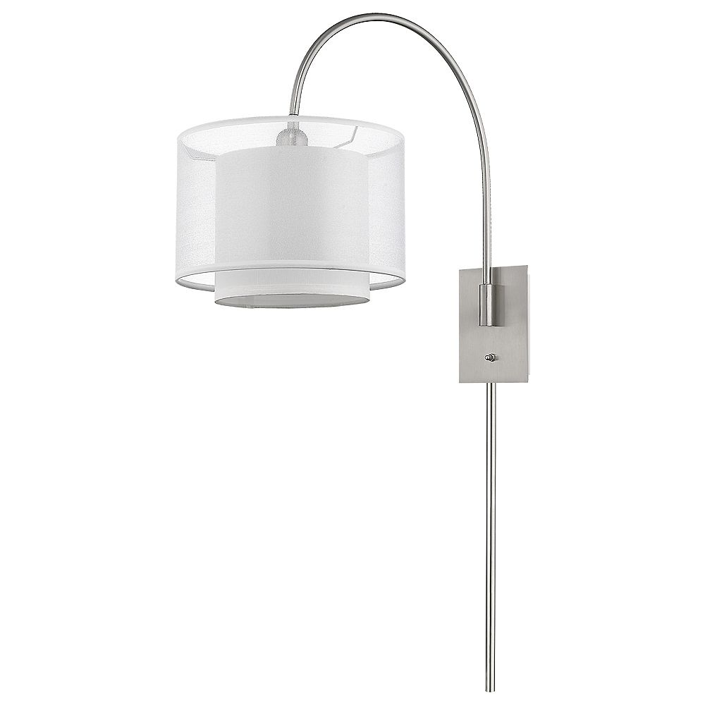 Trend Lighting 1 Light Wall Brushed Nickel Incandescent Wall Sconce