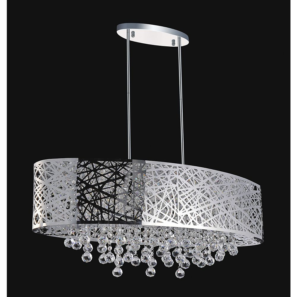 CWI Lighting Laser Cut 32 Inches Oval