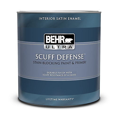 ULTRA Interior Satin Enamel Paint & Primer in One - Ultra Pure White, 946ML