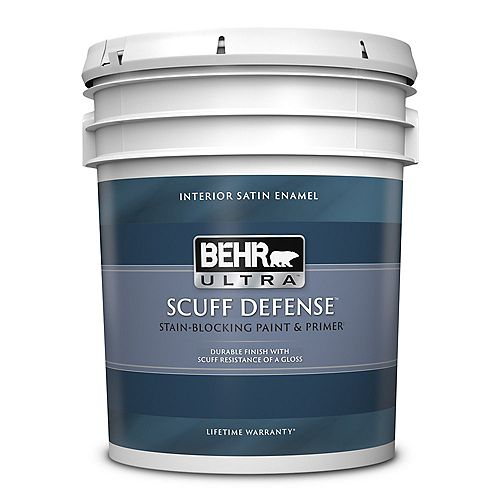BEHR ULTRA Interior Satin Enamel Paint & Primer in One - Ultra Pure White 18.9L