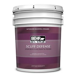 BEHR ULTRA Interior Eggshell Enamel Paint & Primer in One - Ultra Pure White, 18.9L