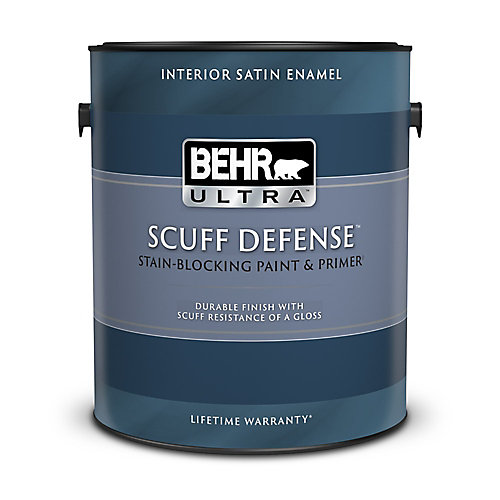 ULTRA Interior Satin Enamel Paint & Primer in One - Ultra Pure White, 3.79L