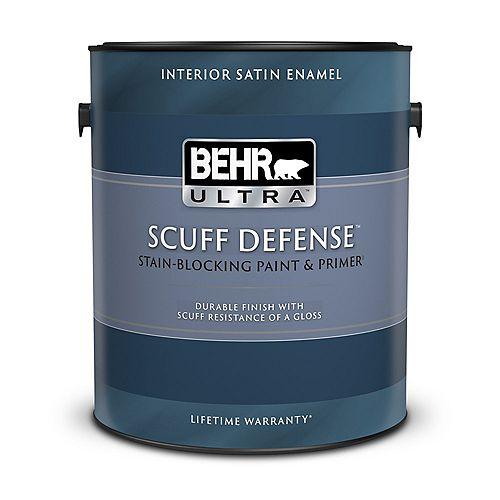 BEHR ULTRA SCUFF DEFENSE Interior Satin Enamel Paint & Prmer in Medium Base, 3.79 L