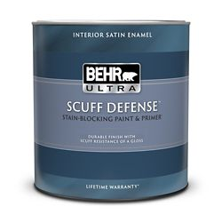 BEHR ULTRA Interior Satin Enamel Paint & Primer in One - Medium Base, 946ML