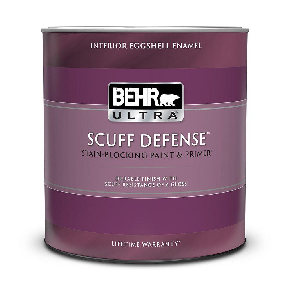 BEHR ULTRA SCUFF DEFENSE Interior Eggshell Enamel Paint & Primer in Medium Base, 946 ML