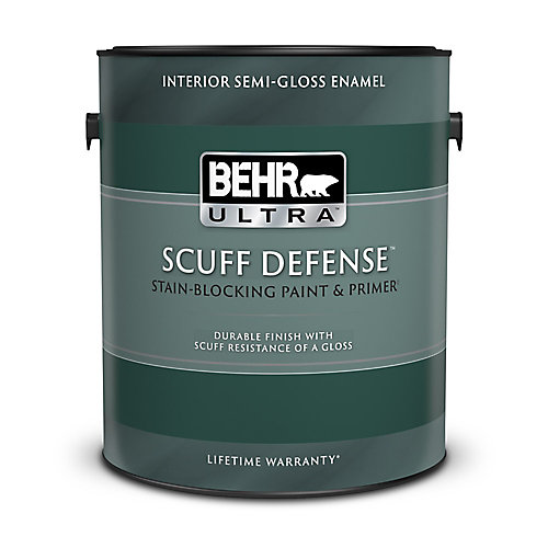 ULTRA Interior Semi-Gloss Enamel Paint & Primer in One - Medium Base, 3.79L