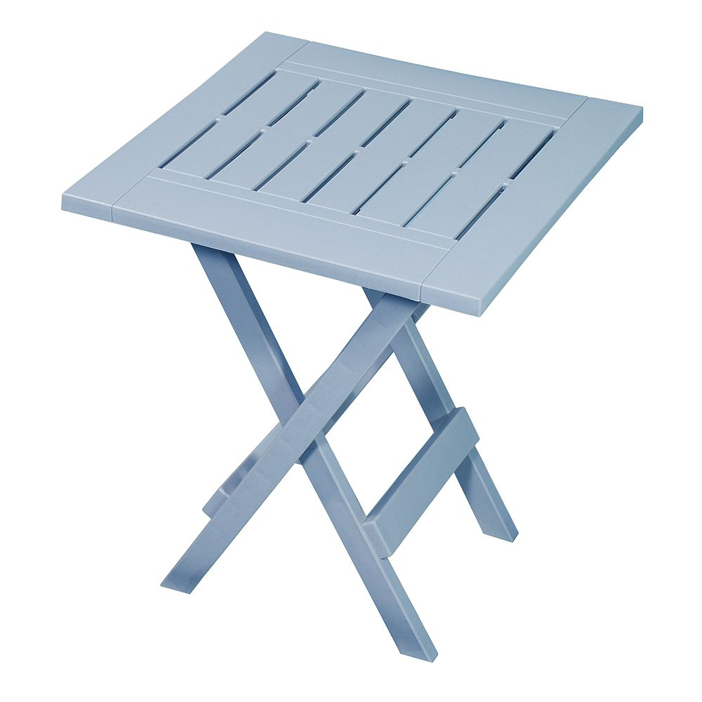 Gracious Living Sky Blue Folding Side Table
