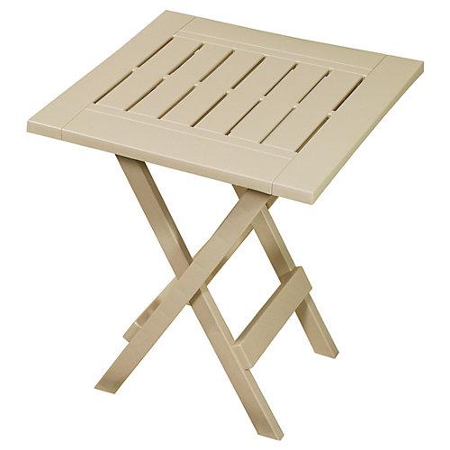 Folding Patio Side Table in Sandstone