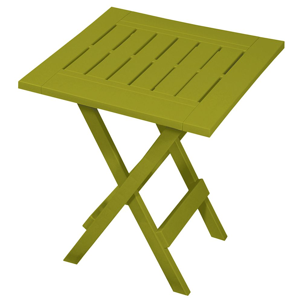 Gracious Living Tulip Leaf Green Folding Side Table