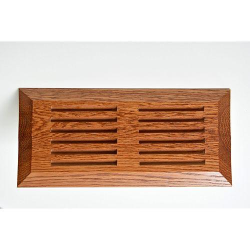 Finium 10-inch x 4-inch Oak Floor Register in Gunstock
