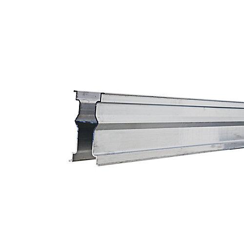70 mm x 130 mm x 2.30 m Rail inférieur en aluminium